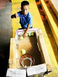 Basketball Arcade Game Kids Crafts To Make With A Cardboard Box
