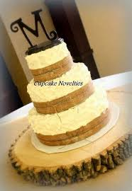 Rustic Burlap Twine Wedding Cake At The Millwood Station Event Center