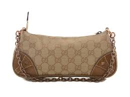 trousse de toilette gucci authentic gucci gg monogram canvas leather chain purse