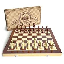 Wooden Chess Set Universal Standard Board Game