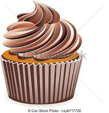 vector chocolate cupcake
