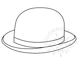 English Bowler Hat Coloring Page For Kid