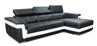 canapé noir et blanc canape d angle à droite albion noir blanc