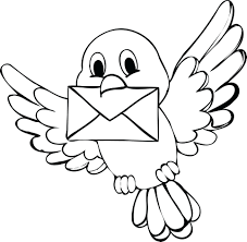 Printable Bird Coloring Pages For Adults Crane Tweety Free Cute Page Full Size