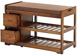 eahkgmh schuhregal bamboo storage rack can sit bank mit 2