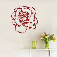 amazon com wall decals rose flower blooming decor floral decal