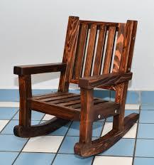 Kids Wooden Rocking Chair, Sturdy Redwood Kids Chair