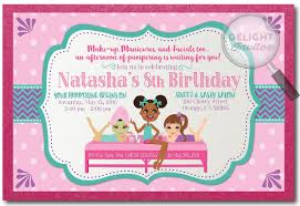 Diva Spa Party Birthday Invitations DI 249 Harrison Greetings