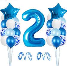 zaloife luftballon 2 geburtstag junge deko 2 geburtstag junge blau 2 jahre geburtstagsdeko 2 geburtstag blau riesen folienballon zahl 2