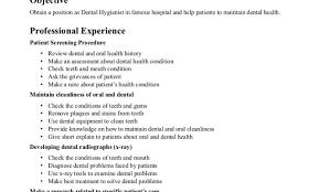 Help Desk Resume Objective by Resume Dental Hygiene Resumes Awesome Dental Hygiene Resumes