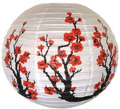 16 Red Sakura Cherry Flowers Paper Lantern