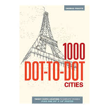 IPG Adult Coloring Books 1000 Dot To Cities Book