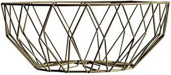 obstkorb aus eisendraht für obst gemüse wohnzimmer tisch esszimmer deko gold