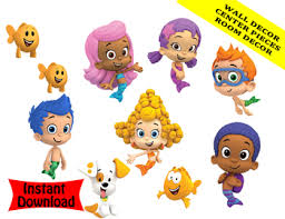 Bubble Guppies Cake Toppers by Bubble Guppies Birthday Candy Bar Wrappers Party Favors