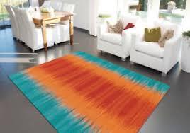 details zu arte espina teppich modern farbverlauf wohnzimmer orange türkis blau aqua rot