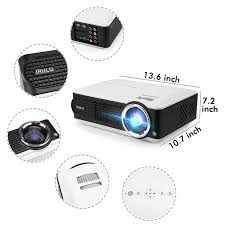 irulu p4 projector hd lcd projector support 1080p home