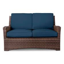 Halsted 4 Piece Wicker Patio Furniture Set Threshold™ Tar