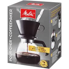 MelittaR Pour OverTM Brewer 10 Cup Coffee Maker With Glass Carafe Box