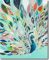 Boho Peacock Art Print