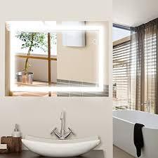 wefun badspiegel mit beleuchtung badezimmerspiegel mit beleuchtung badezimmerspiegel led touch 600mm 800mm deutschland lager