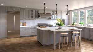 light grey shaker kitchen cabinets