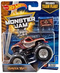 100 Team Hot Wheels Monster Truck Jam 25 Mutt 164 DieCast Car 55 MJ Dog