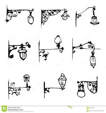 Hand Draw Antique Street Lamp Vintage