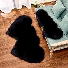 wione faux lammfell teppich shaggy kunstfell schaffell lammfellimitat teppiche longhair fell universal für wohnzimmer schlafzimmer kinderzimmer