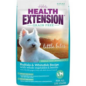 Health Extension Grain Free Little Bites Dry Dog Food - Buffalo and Whitefish Recipe, 1lb