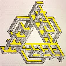 Penrose Tiling Golden Ratio by Impossible Opticalillusion Penrose Penrosetriangle Escher