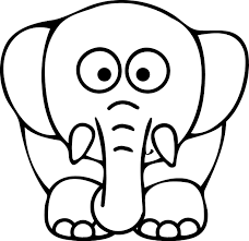 Baby Elephant Cute Coloring Pages