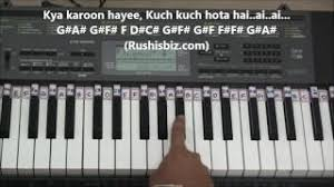 chords for kuch kuch hota hai piano tutorials 1200 songs