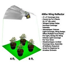 400 watt hps grow light wing reflector grow light growace