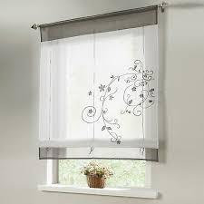 raffrollo küche raffgardinen weiß gardinen wohnzimmer