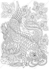 Carp Koi Fish Coloring Page Adult By ColoringPageExpress