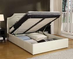 bed frames king platform bed with storage queen storage bed
