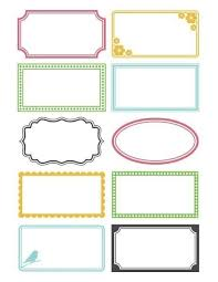 Free Customizable Printable Labels