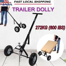 600LB Iron Heavy Duty Trailer Dolly Hitch Boat Jet Ski Camper Hand ...