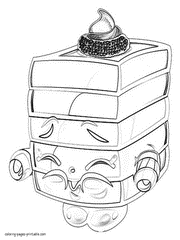 Lolli Poppins Shopkins Coloring Pages Free Printable
