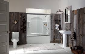 Vertical Bookshelf Bathroom Rustic With Cabin Inexpensive Reclaimed Wood Walls