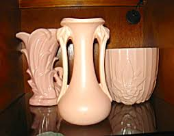 Vintage McCoy Matte Pink Vase McCoy Pottery at More Than McCoy