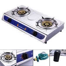 Jaxpety GS213 Propane Gas Burner Portable Stainless Outdoor