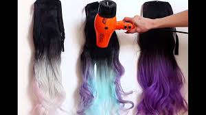 heat sensitive thermochromic magic color changing hair extensions