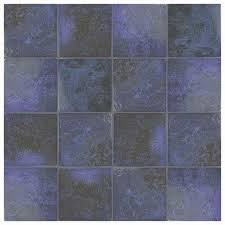 somertile 6x6 inch oceano blue laguna porcelain floor and wall