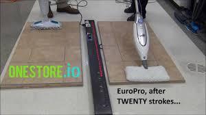 Steam Mop Hardwood Floors by Steam Mop For Laminate Floors Bissell V Europro Youtube