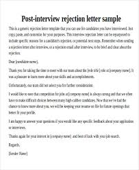 Sample Thank You Email After Interview Rejection Helloguanster