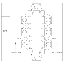 Standard Round Dining Room Table Dimensions by Ideal Space Around Dining Table Drawing Technical Pinterest