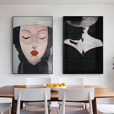 großhandel moderne abstrakte malerei frauen porträt mode