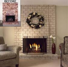 Paint Colors Living Room Red Brick Fireplace by Painted Red Brick Fireplaces With Brick Anew Paint Brick Anew