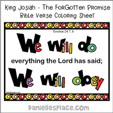 Exodus 247 Bible Verse Coloring Sheet For Josiah Lesson On Daniellesplace